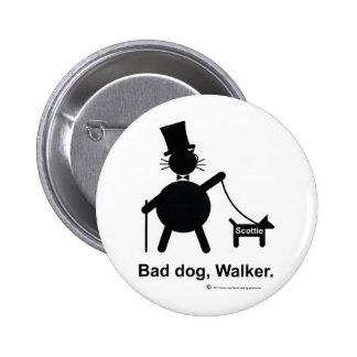 Mún caminante del perro pin redondo 5 cm
