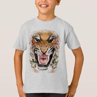 Mún camisetas de la cara del tigre poleras