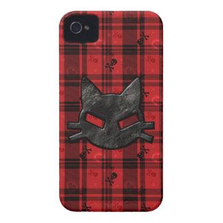 Mún caso del iPhone 4 del gatito con los cráneos y iPhone 4 Case-Mate Cobertura