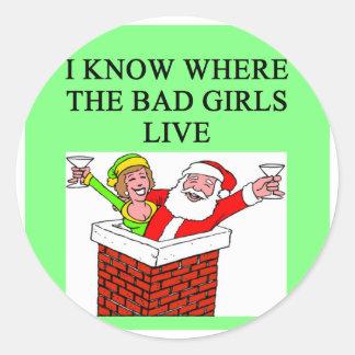 Mún chiste del chica de Papá Noel Pegatinas