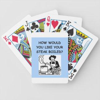 mún cocinero barajas de cartas