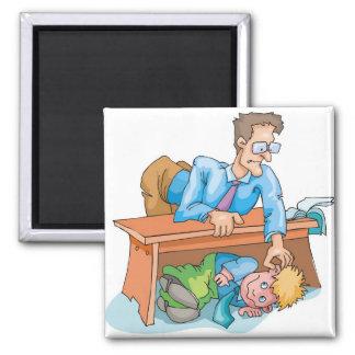 Mún comportamiento de la sala de clase imán cuadrado