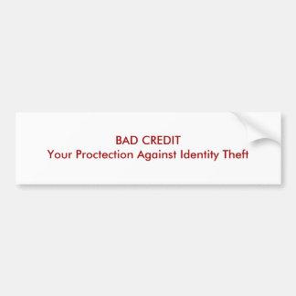 MÚN CRÉDITO su protección contra hurto de identida Pegatina Para Auto