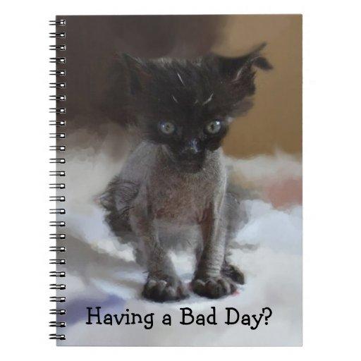 Mún cuaderno del día del gatito feo