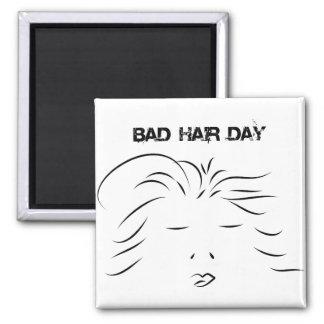 Mún día del pelo imán cuadrado