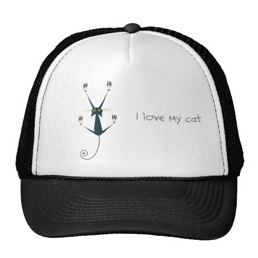mún diseño del gato gorras