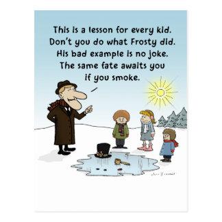 Mún ejemplo escarchado - dibujo animado divertido tarjetas postales