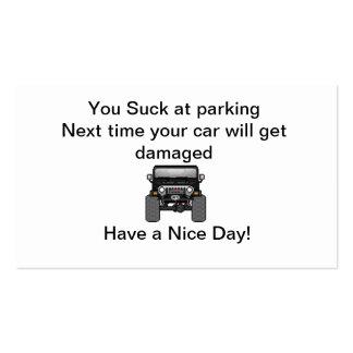 mún estacionamiento tarjetas de visita