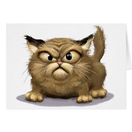 Mún gato tarjeta de felicitación