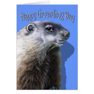 Mún Groundhog Tarjeta De Felicitación