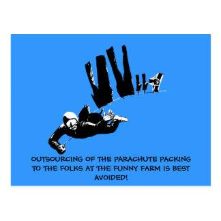 Mún gusto pero el skydiving divertido tarjetas postales