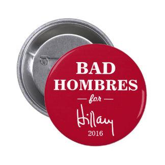 MÚN HOMBRES para el botón de la campaña de Hillary Pin Redondo De 2 Pulgadas