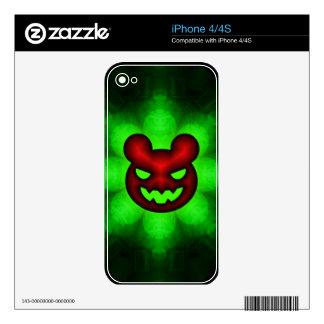 Mún iphone grande 4/4S de la piel del oso iPhone 4 Calcomanías