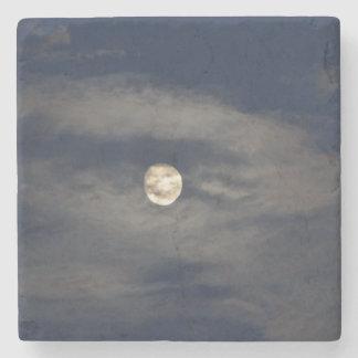 Mún levantamiento de la luna posavasos de piedra