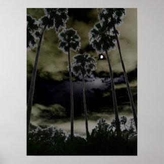 Mún levantamiento de la luna póster