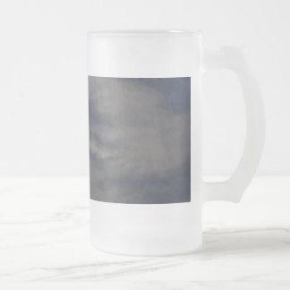 Mún levantamiento de la luna taza cristal mate