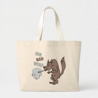 Mún lobo grande bolsas de mano