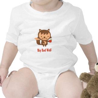 Mún lobo grande lindo con Apple para los niños Trajes De Bebé