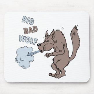Mún lobo grande mouse pads