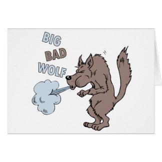 Mún lobo grande tarjeta de felicitación