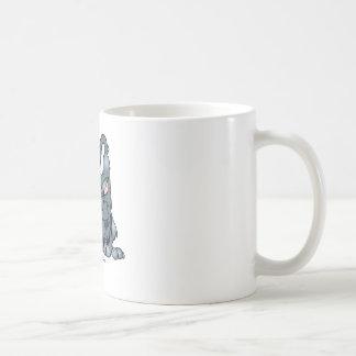 Mún lobo grande tazas de café