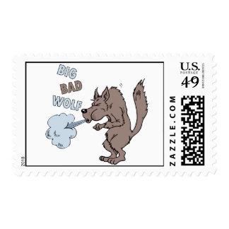 Mún lobo grande timbres postales