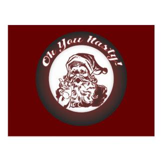 Mún navidad retro de Santa del vintage divertido Tarjetas Postales