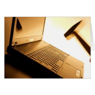 Mún ordenador tarjeta de felicitación