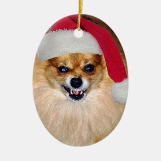 Mún ornamento del navidad de Santa Adorno Navideño Ovalado De Cerámica