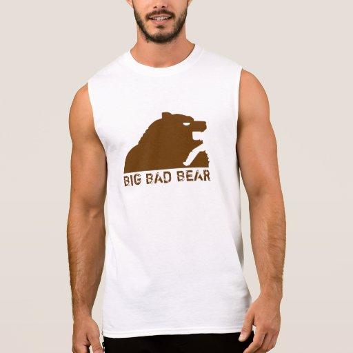 Mún oso grande (Brown) Camisetas Sin Mangas