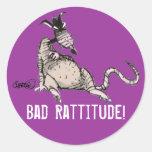 Mún pegatina de Rattitude