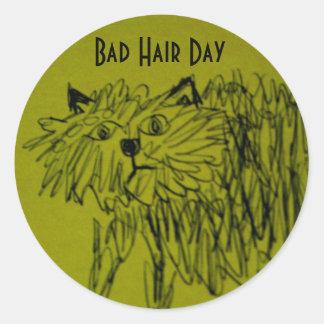 Mún pegatina del día del pelo