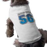 Mún perro - jersey de 56 deportes - camiseta azul  camisetas de perro