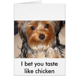 Mún perro tarjeta de felicitación