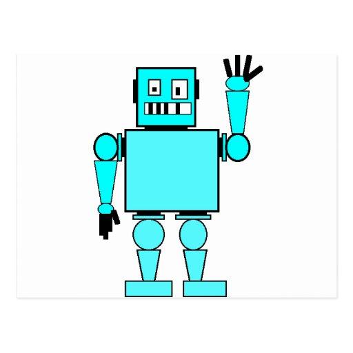 mún robot enojado tarjeta postal