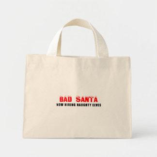 Mún Santa ahora que emplea duendes traviesos Bolsa Tela Pequeña