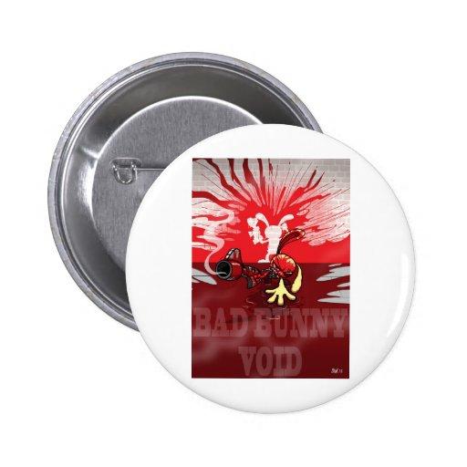 Mún VACÍO del conejito Pin Redondo 5 Cm