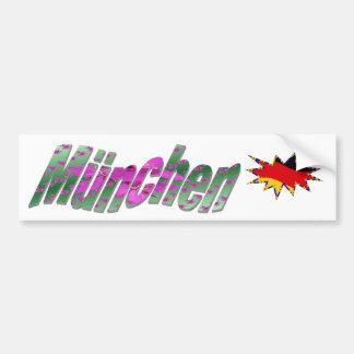 München Bumper Sticker Car Bumper Sticker