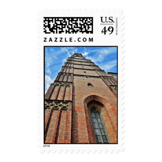 Munchen church tower postage stamp