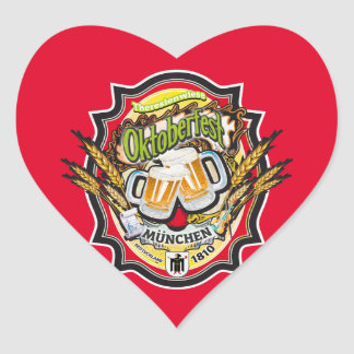 München Oktoberfest Edition Pegatina Corazón Personalizadas