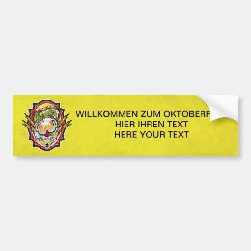 München Oktoberfest Edition Pegatina De Parachoque
