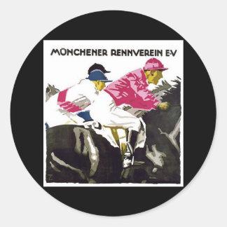 Munchener Rennverein E.V Pegatina Redonda