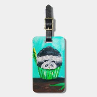 Munchies Panda Cupcake Travel Bag Tag