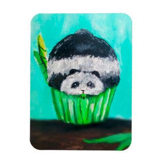 Munchies Panda Cupcake Rectangular Photo Magnet