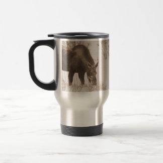 Munching Moose; No Text Travel Mug