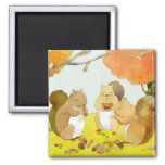 Munching Time: Little Squirrels' feast Refrigerator Magnets