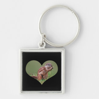 Munchkins Silver-Colored Square Keychain