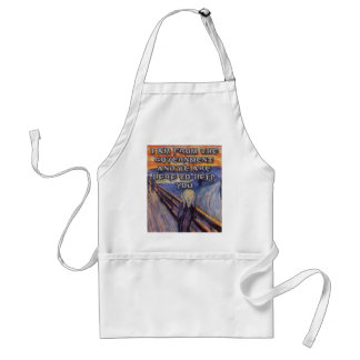 Munch's The Scream:  Government Help! Adult Apron