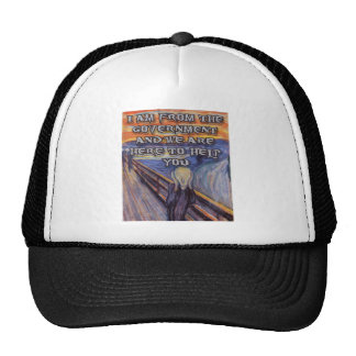 Munch's The Scream:  Government Help! Trucker Hat