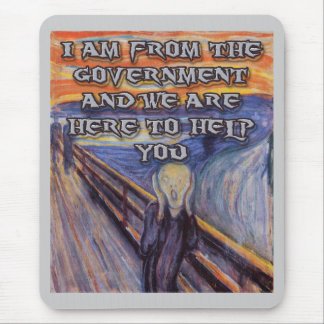 Munch's The Scream:  Government Help! Mouse Pad